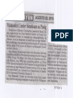 Ngayon, Aug. 22, 2019, Malasakit Center binuksan sa Pasig.pdf