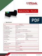 MK350N PLUS Spectrometer Specification En