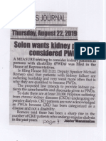 Peoples Journal, Aug. 22, 2019, Solon wants kidney patiesnts considerred PWDs.pdf