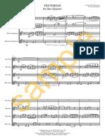 Beatles (Sax Quartet)