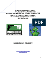 Guia Del Docente de Cultura de La Legalidad 2009