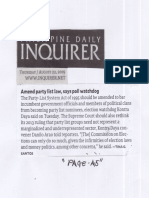 Philippine Daily Inquirer, Aug. 22, 2019, Amend party list law, says poll watching.pdf