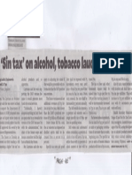 Philippine Daily Inquirer, aug. 22, 2019, Sin tax on alcohol, tobacco lauded, slammed.pdf