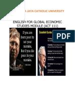 Modul English for Global Economic Studies (FEB)