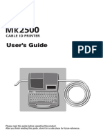 Cable ID Printer - M k 2500 User Guide