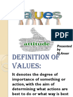 Values and Attitudes Ppt