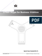 Yealink CP960-Skype for Business Edition Quick Start Guide V8.17