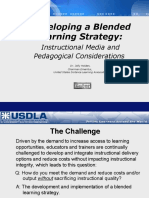 Developing a Blended Learning Strategy Instructional Media Pedagogical Considerations2908
