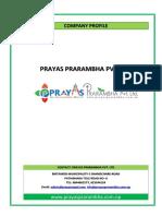 Company Profile Prayas Prarambha