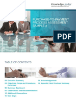 Purchase-To-Payment Process Assessment - Sample 2