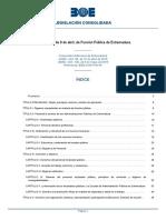 LEY DE LA FUNCION PUBLICA DE EXTREMADURA