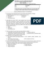 Soal Ulangan Harian Mitigasi Bencana Kelas Xi