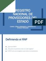 1.1 REGISTRO NACIONAL DE PROVEEDORES DEL ESTADO