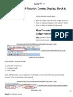 GL Account in SAP Tutorial_ Create, Display, Block & Delete FS00