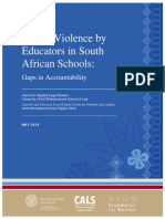 Sexual Violence by Educators in South African School