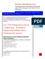 300+ TOP Refrigeration & Air Conditioning Multiple Choice Questions Pdf