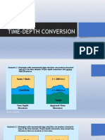 Time to Depth Conversion