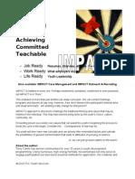 IMPACT Overview Job Work Life