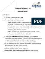 Fy1 Sjt Practice Paper Answer and Rationales Large Print