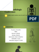 Clinico Radiological Conference