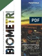 Biometrics Product Portfolio Mantra Softec