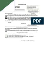 Anti Vaccine Notification Letter