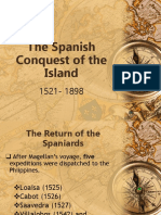 The Spanish Conquest of the Island