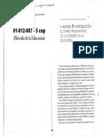 01012007 CULLEN - Introducción en Crítica de Las Razones de Educar
