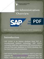 SAP Hana Administration Guide | SAP Hana Admin PPT