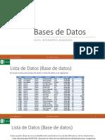 BASE DE DATOS (LISTA DE DATOS) EXCEL
