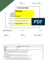 Psv Sizing Sheet
