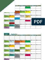 Activities Calendar 19-20 Two Rows Per Week Aug 2019