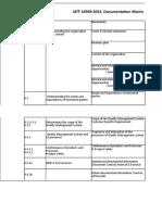 Ref DS-QMS-00 Documentation MatriX