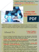 Actuate ERP Technology Users Email Database.pptx