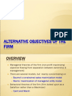 7. Alternatives Theories for Firm