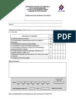 Planilla Evaluacion TEG II