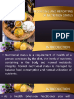 Recording and Reporting Nutritional Status and Evaluation