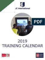 Jc International Training Calendar 2019 2