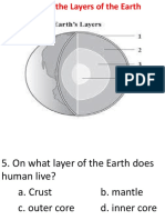 Quiz on Layers of Earth