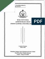 Buku Petunjuk Administrasi Umum