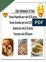 Cafeteria Fernanda Te Trae