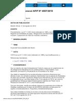 rg 4557-19 Procedimiento. Ley N°11.683 Régimen defacilidades depago