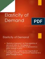 Elasticity of Demand & Elasticity of Supply