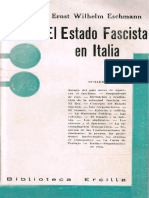 Eschmann, Ernst W. - El Estado Fascista en Italia [1936]