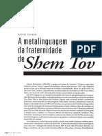 A meta linguagem da fraternidade de shem tov