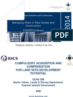 RICS IPTI Barbados G Roots U Obi Compulsory Purchase & Compensation