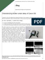 Characterizing Shutter Curtain Delay of Canon XSi _ Bill Grundmann's Blog