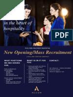 Mass Recruitment f&b and Fo