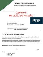 Cap II- Medicao de Pressao
