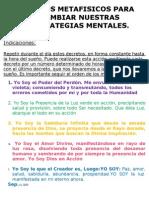 5.-Decretos metafísicos para cambiar nuestras estrategias mentales